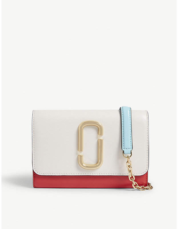 Marc Jacobs Double J leather wallet-on-chain