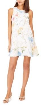 Calvin Klein Petite Floral-Print Shift Dress