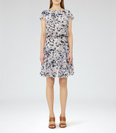 Reiss Annah Printed Tiered Dress