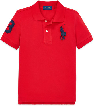Ralph Lauren Kids Big Pony Mesh Knit Polo, Size 2-3