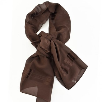 Givenchy Brown Silk Scarves