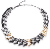 Alexis Bittar Two-Tone Origami Link Necklace