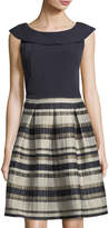 Taylor Crepe Jacquard Party Dress