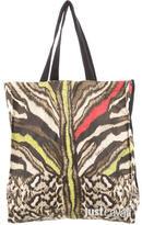 Just Cavalli Leopard Print Logo Tote