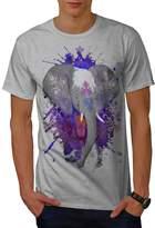 Indian Elephant Ornamental Men XXXL T-shirt   Wellcoda