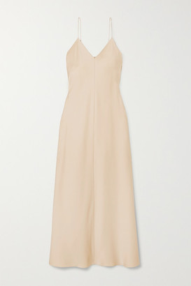 The Row Guinevere Silk-satin Maxi Dress - Beige