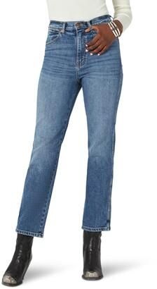 Wrangler Wild West High Waist Straight Leg Ankle Jeans