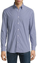 Ralph Lauren Mini-Gingham Sport Shirt, Navy