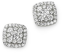 Bloomingdale's Diamond Square Cluster Stud Earrings in 14K White Gold, 0.60 ct. t.w. - 100% Exclusive