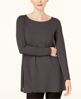 Eileen Fisher Stretch Jersey Side-Slit Tunic