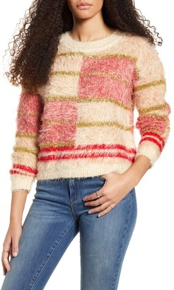 MinkPink Odessa Metallic Eyelash Chenille Sweater