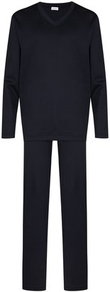 Zimmerli Long-Sleeve Two-Piece Pajama Set