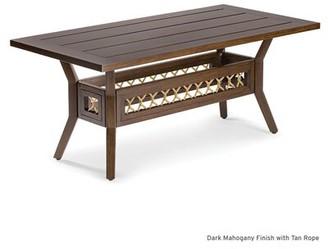 Eddie Bauer Echo Bay Aluminum Coffee Table Frame Color: Mahogany