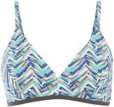 Linea Smudge chevron triangle bikini top