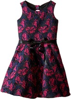 Us Angels Rose Brocade Sleeveless Bow Back Dress (Big Kids)