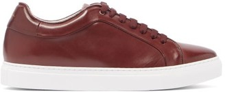 Paul Smith Basso Leather Trainers - Mens - Burgundy