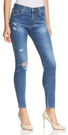 AG Jeans Farrah High Rise Skinny Ankle Jeans in 14 Years Blue Nile Destructed