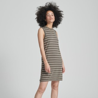 Naadam Striped Summer Silk Shift Dress