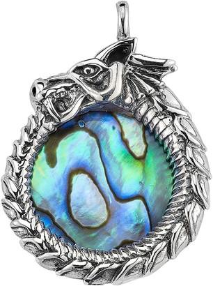 Samuel B. Sterling Silver Abalone Dragon Pendant