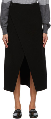 Givenchy Black Wool Wrap Skirt