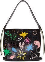 Kenzo Black Cory Badges Shoulder Bag