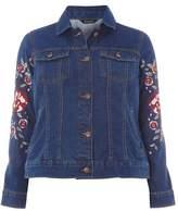 Evans Denim Embroidered Jacket