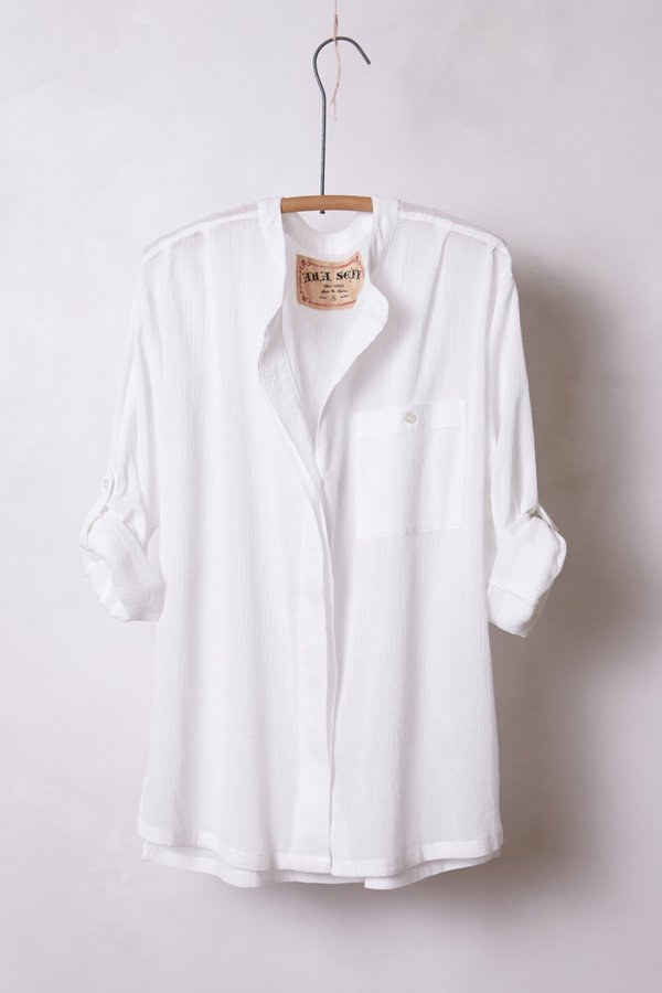 Anthropologie Gauze Buttondown