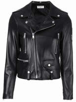 Saint Laurent military patch motorcycle jacket