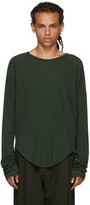 Haider Ackermann Green Long Sleeve Ribbed T-shirt