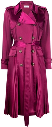 RED Valentino Pleat-Detail Trench Coat