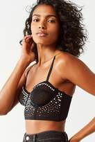 Out From Under West Side Studded Mesh Corset Bra