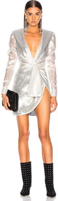 Redemption for FWRD Long Sleeve Dress in Silver | FWRD