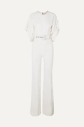 Antonio Berardi Belted Silk-blend Crepe Jumpsuit - Ivory