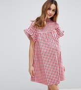 Asos Red Gingham Smock Dress