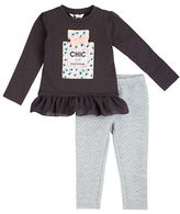 Petit Lem Girls 2-6x Two-Piece Chic Haute Couture Tunic and Leggings Set
