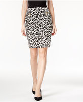 MICHAEL Michael Kors Printed Ponte Pencil Skirt