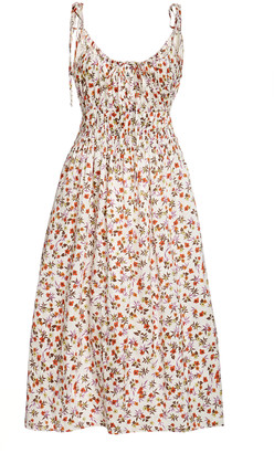 Ciao Lucia Evalina Printed Silk Midi Dress