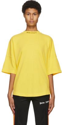Palm Angels Yellow Classic Logo T-Shirt