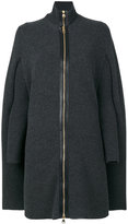 Salvatore Ferragamo zip up cape - women - Polyamide/Cashmere - S