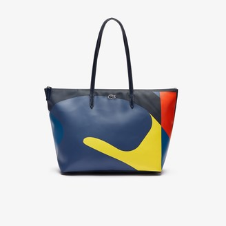 Lacoste Women's L.12.12 Abstract Design Large Coated Canvas Tote Bag