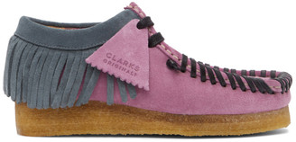 Palm Angels Purple Clarks Originals Edition Fringed Wallabee Moccasins