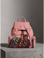 Burberry The Medium Rucksack in Deerskin with Beasts Motif