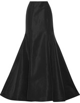 Oscar de la Renta Silk-faille Maxi Skirt - Black