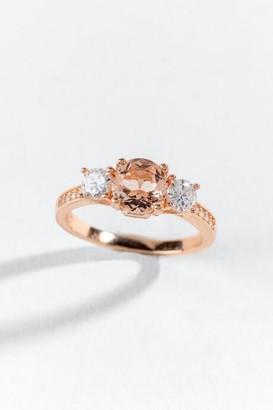 francesca's Ada CZ Pronged Ring - Rose/Gold