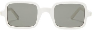 Saint Laurent Square Acetate Sunglasses - Mens - Ivory