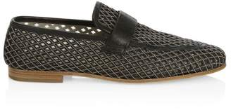 Brunello Cucinelli Lasercut Leather Loafers