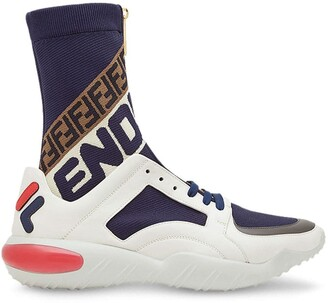 Fendi Hi-Top Logo Sneakers
