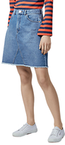 Warehouse Denim Reconstructed Skirt, Medium Wash Blue