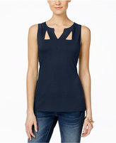 INC International Concepts Petite Sleeveless Cutout Top, Only at Macy's