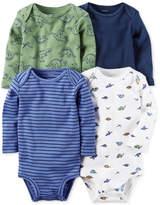 Carter's 4-Pk. Dinosaur-Print Cotton Bodysuits, Baby Boys (0-24 months)